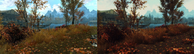 With and without ENB comparison - Hircine 1