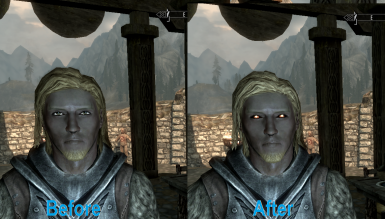 Before and After Vampire Eyes Fix