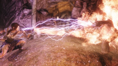 EcthelionOtW Dawnguard Weapons - war axe in action