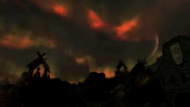 Whiterun at night with Pure Weather and ELFX