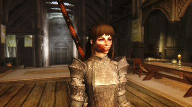 Nord in Lady Bulwark Armour
