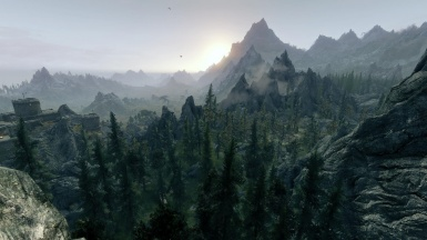 Sunrise over skyrim