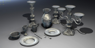 Silver Clutter Set for Skywind