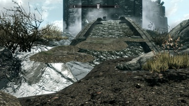 Floating Patches of Dirt and Rocks on Volkihar entrance