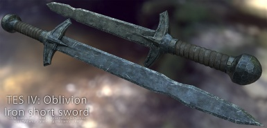Oblivion iron short sword