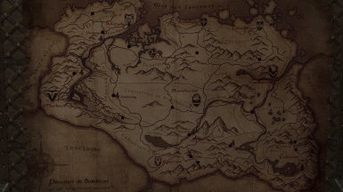 The map of skyrim in french