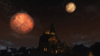 Moonrise at Whiterun
