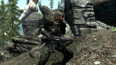 Naked Snake with M4A1