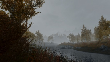 Mist and river