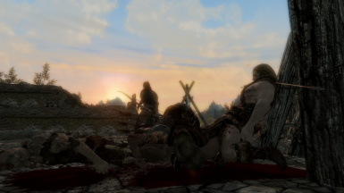 A bloody sunset