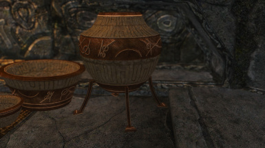 high detailed dwemer pottery