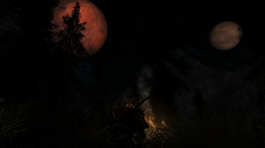 Camping under the moons