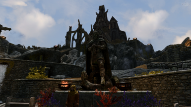 Statue of Talos and Annoying Heimskr