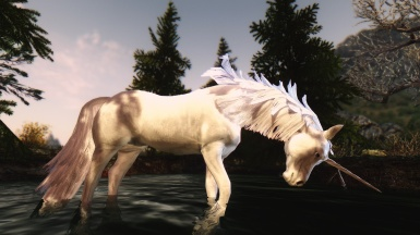 a horse in nature epic realism