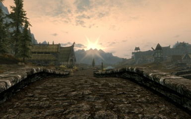 Sunset Near Whiterun