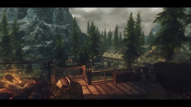 Overlooking Riverwood at dust
