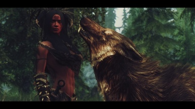 A forsworn and her wolf