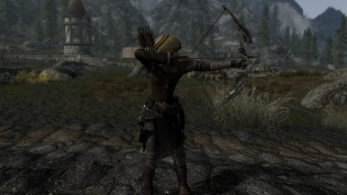 traveling adventurer with an Nordic assault bow