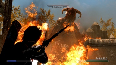 Giant attack orc camp