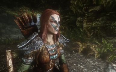 Aela the Huntress chilling out