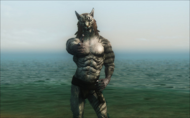 Muscular Khajiit Textures and Skeleton