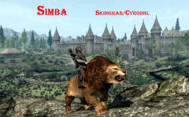 Lion mount in Skyblivion