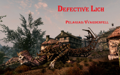 Defective Lich mount in Skywind