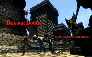 Draugr Doggy mount in Skywind