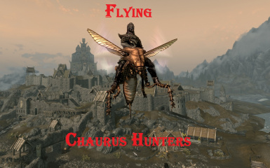 Flying Scrib as Fully Mount in Skyrim