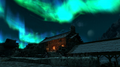 Auroa over Windhelm Stables