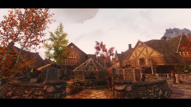 Colorful Evening at Riften
