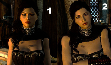 Two face textures to Serana