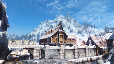 Mountains outside of Windhelm