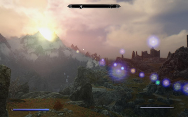 Great mountains of Skyrim