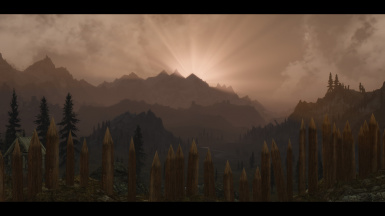 Sunset over Whiterun Hold