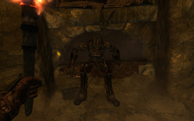 draugr with problems on his back