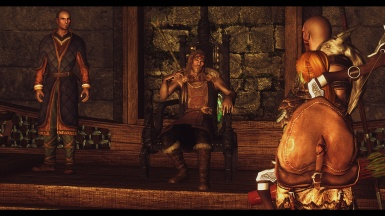 Hrongar Standing Up for the Dovahkiin