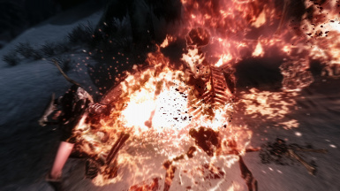 Skeleton in fire