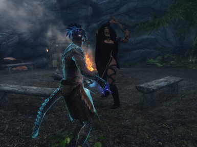 Just bashing an argonian in the head with ma crossbow