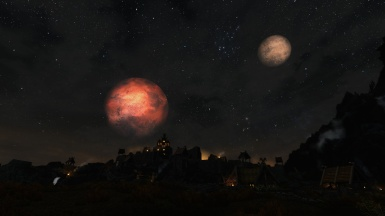 Masser and Secunda over Whiterun