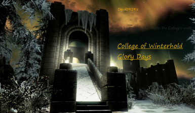 College of winterhold Glory days title page