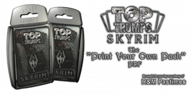 SKYRIM TOP TRUMPS - The Print Your Own Pack PDF