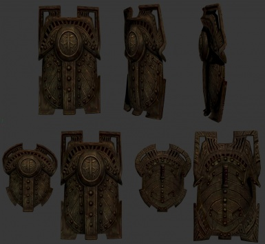 Dwarven Tank Shield WIP - with Hectrols HD Retexture