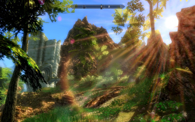 Tropical Skyrim With Awesome Sun Glare