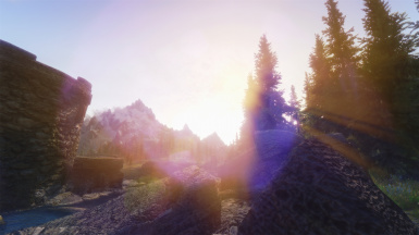 Sunset lens effects