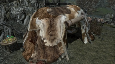 Nordic tent with PELTS OF SKYRIM - Hi-Res Pelt Packs