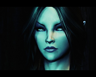 female Dunmer close up