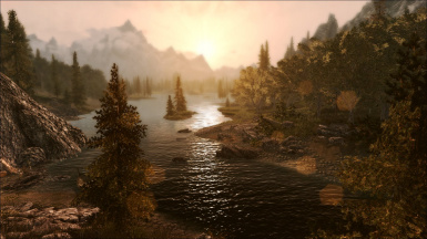 Sunset At Guardian Stones Without ENB