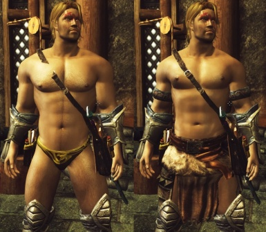 Comparision between Novice Mage robes and barbarian