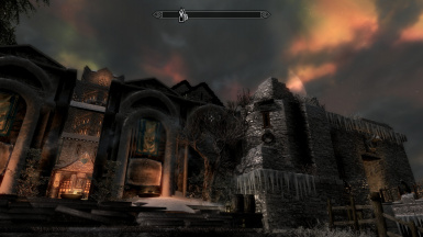 Moon rise over Windhelm